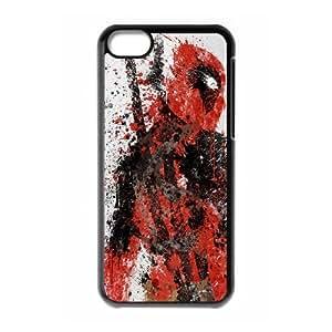 Deadpool iPhone 5c Cell Phone Case Black iyjv
