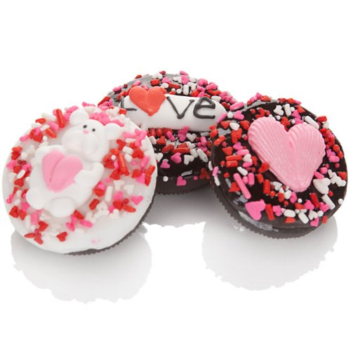 Romantic Decorated Oreo Cookies - Set of 12
