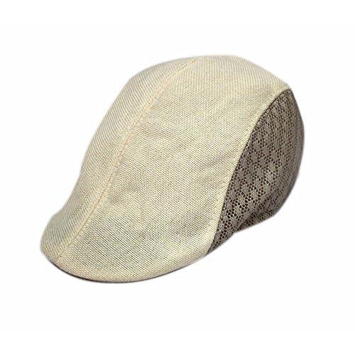 Mejor OSISDFWA La Primavera Y El Otoño Son Bailey Malla Sombrero Sombrero  Boina Gorra Beige Gorros bff0a6c9567