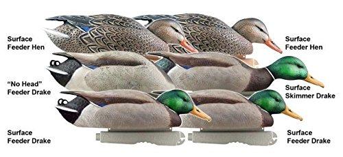 Greenhead Gear Pro-Grade Duck Decoy,Mallards/Feeder Pack,1/2 Dozen