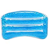 MyGift Deluxe Blue Soothing Soft Gel Filled Bathtub/Hot Tub/Spa Bath Pillow with Triple Suction Cups