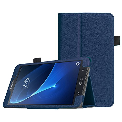 Fintie Folio Case for Samsung Galaxy Tab A 7.0 - Premium Vegan Leather Slim Fit Folio Stand Cover for Samsung Galaxy Tab A 7.0 Tablet 2016 Release (SM-T280/SM-T285), Navy