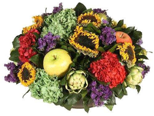 Forever Green Art Preserved Floral Fruit Bowl, 18-Inch by Forever Green Art