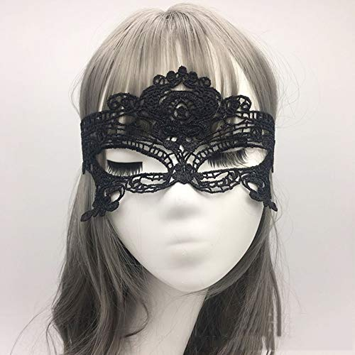 Lace Mask Exquisite High-End Halloween Half-Face Masquerade Party ()