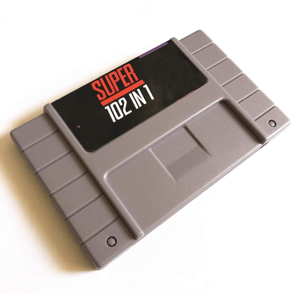 ASMGroup Super 102 in 1 Video Game TMNT IV /Contra III/Mega Man 7/Sonic/Kirby/Mortal Kombat 3 Game Cartridge 16 Bit 46 Game Card SNES For USA Version Game Player