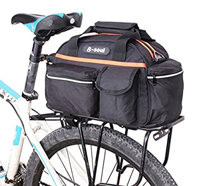 Bike Rear Seat Bag Outdoor Bicycle Cycling Tail Storage Bag Rack Trunk Pouch Handbag Package Rack Back Rear Seat Tail Carrier Trunk