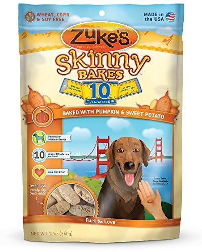 Zuke's Skinny Bakes Dog Treats, Pumpkin and Sweet Potato, 10-Calories, 12-Ounce (Pumpkin Potatoes Sweet)