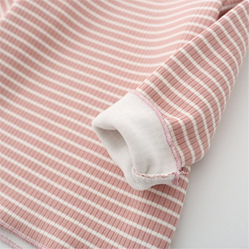 Baby Girls Thicken Tops Infant Toddler Long Sleeve Blouse Kids Striped Pullovers Unisex Tees