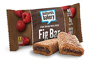 Nature's Bakery Whole Wheat Fig Bar, Raspberry, Vegan + Non-GMO, 12 Count Box, Packaging May Vary