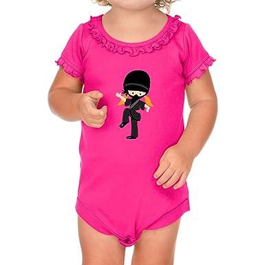 Amazon.com: Ninja Girl Pose One - Body de algodón para niña ...