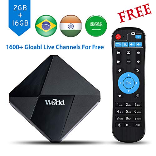 International IPTV Receiver, 2019 New Global IPTV Box with 1600+ Live Channels from North American European Asian Arabic Brazil South American Programs, Free for Lifetime (Best News Channel In India In Hindi)