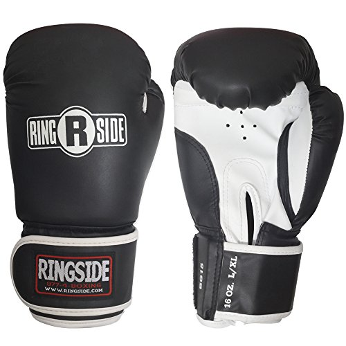 Ringside Striker Training Gloves, Black/White, Small/Medium