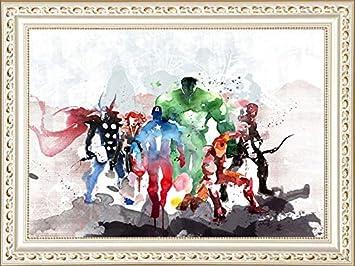 5D Full Drill DIY Artes y Manualidades Bling Artwork Decor Set de regalo con piedras de cristal 11.81 x 15.75 pulgadas Captain America Kit de pintura de diamante kryptoniano para adultos