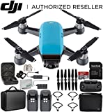 DJI Spark Portable Mini Drone Quadcopter Fly More Combo Portable Bag Shoulder Travel Case Bundle (Sky Blue)