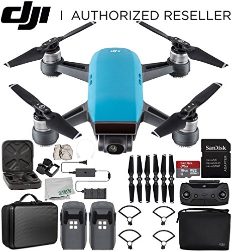 DJI Spark Portable Mini Drone Quadcopter Fly More Combo Portable Bag Shoulder Travel Case Bundle (Sky Blue) by SSE