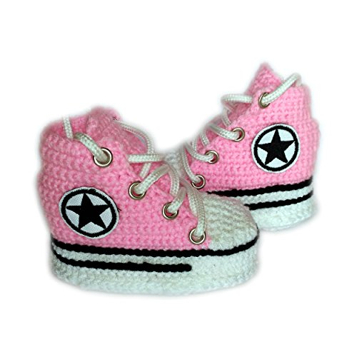 Crochet Newborn Girl Converse Booties Baby Shower Gift Newborn