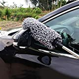 Lukzer 1 PC Car Duster Microfiber Extendable Interior Exterior Multipurpose Cleaning Brush for Car and Home