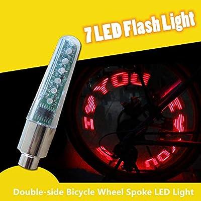 K-Fang, Rueda de Bicicleta Rayo LED Lámpara de luz Ciclo Neumático ...