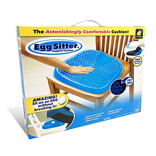 Seat Cushion Cover (BulbHead Official As Seen On TV Egg Sitter Seat Cushion The Original with Non-Slip Cover, Breathable Honeycomb Design Absorbs Pressure Points (Egg Sitter Seat Cushion))