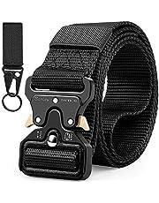 Barley Cintura Tattica, Cintura Militare Tattica per Uomo Heavy,Tessuto in Nylon Cintura,Fibbia Cobra Cintura Resistente di Salvataggio per Sport e Caccia All'aria Aperta Cintura Militare