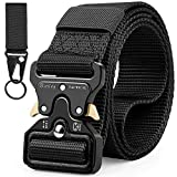 Military Belt, Men Tactical Belt Adjustable Nylon Belt with Quick Release Metal Cobra Buckle Ideal for Hunting Training Army Running