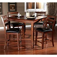 American Heritage Rosa 5 Piece Dining Set in Brown