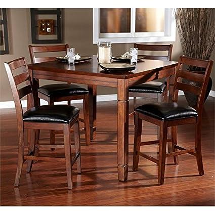 Etonnant American Heritage Rosa 5 Piece Dining Set In Brown