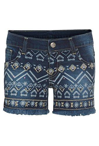 Gato Negro, Hotpants Aus Jeans Mit Ethno-Muster, Mädchen, Größe 158, dunkelblau