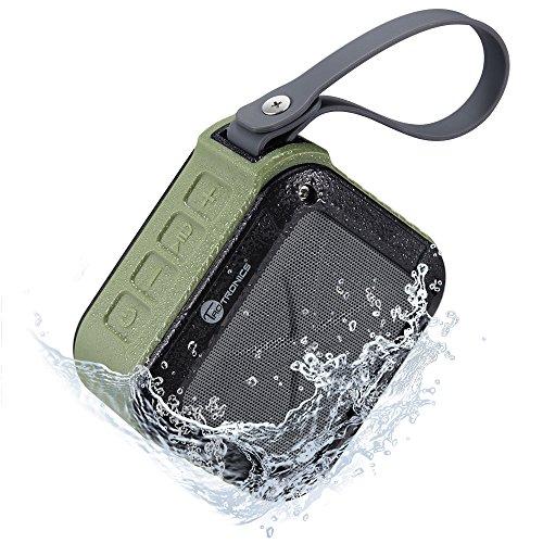[Best Bluetooth Speakers Waterproof Ever] TaoTronics Wireless Portable Outdoor Bi-directional Sound Bluetooth 4.0 Speaker (Up to 15 Hours of Playtime Rugged Compact IPX5 Waterproof)