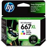 Cartucho HP - 667XL Colorido Original (3YM80AL)