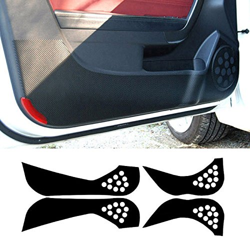 Automotiveapple Sell, ArtX 4D Carbon Door Protect Anti Scratch Cover Carbon Black 4-pc Set for 2012~2014 Kia Rio : All New Pride