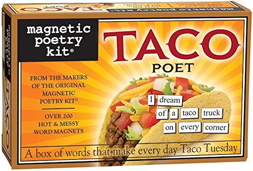 Magnetic Poetry - Taco Poet Kit - Words for Refrigerator - Write Poems and Letters on The Fridge - Made in The USA