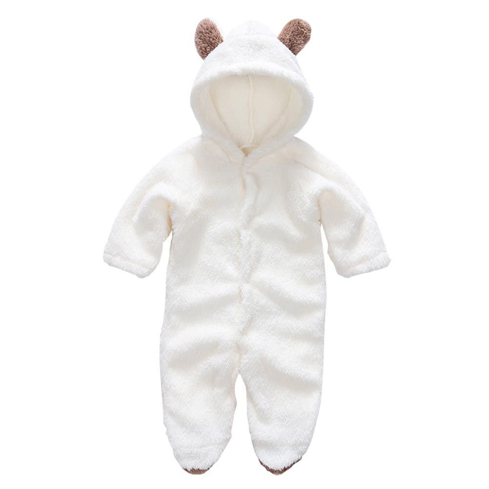 Brightup Infant Winter Footies, Baby Girl and Boys Fleece Jumpsuit, Footed Romper Bodysuit Overalls Outfits