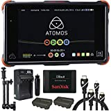 Atomos Ninja Flame 7'' Monitor Recorder, Sandisk Ultra II SSD 240GB Memory Card, Battery, Charger, Caltar 7'' Articulating Magic Arm, HDMI A-D Basic 3' Cable and A-C Basic 3' Cable