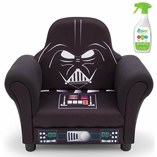 Delta Disney Star Wars Darth Vader Children's Deluxe Upholstered Chair with Multi-Purpose Cleaner Spray
