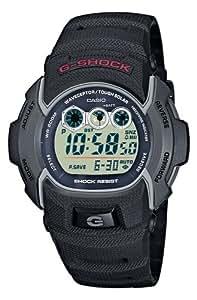 CASIO G-SHOCK GW-002E-1VER - Reloj de cuarzo con correa de resina para hombre (con radio, cronómetro, alarma, luz), color negro