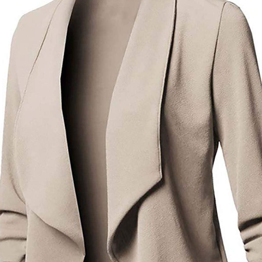 Womens Blazer Coat,Ladies Cardigan Jacket Casual Long Sleeve Solid Plus Size Fashion Tops