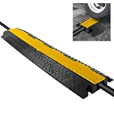 "Durable Cable Protective Ramp Cover - Supports 11000lbs Single Channel Heavy Duty Cord Protection w/Flip-Open Top Cover, 39.4"" x 5.11"" x 0.78"" Cable Concealer for Indoor Outdoor Use - Pyle PCBLCO102"