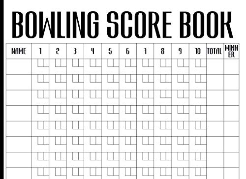 Bowling Score Book: Keep Track Of Scores During Your Bowling Game With Your Club, Friends Or Family (Games Bowl Xmas)