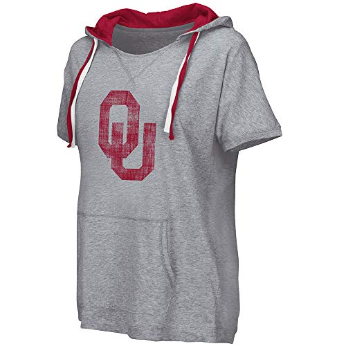 Rugby Sooners Oklahoma - Colosseum NCAA Women's Whoopah Hooded Short Sleeve Tee, L University of Oklahoma Sooners