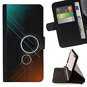 Jordan Colourful Shop - rings teal brown dark sci-fi For Apple Iphone 6 PLUS 5.5 - Leather Case Absorci???¡¯???€????€????????&c