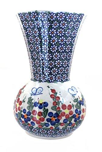 Polish Pottery Garden Butterfly Vase