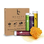 Amazon Lightning Deal 71% claimed: LIP BALM Uniquely Refreshing Exotic Flavors (4 Pack) - Natural Beeswax Lip Care Moisturizer to Repair Dry and Chapped Lips - Made in the USA by Beauty by Earth