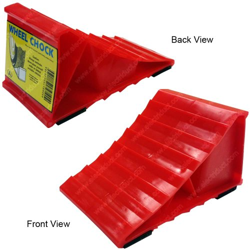 Red Plastic Wheel Chock (40 Pieces (20 Pairs)) by Electriduct