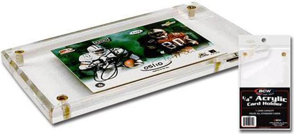 (200) BCW Brand 4-Screw Down Acrylic Trading Card Holder - 1/4'' Thick - A025