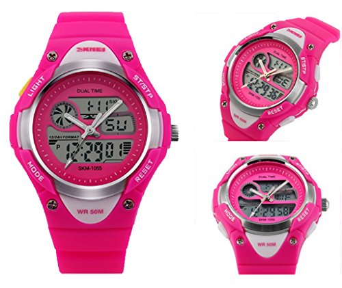 Price comparison product image Children Digital Waterproof Girls Wrist Watches Nice for School Student