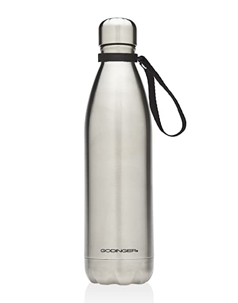 Godinger 25 Oz  Vacuum-insulated Stainless Steel Hot/cold Beverage Bottle  Drink Water Thermos With Carrying Loop Handle