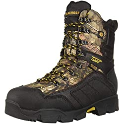 """LaCrosse Men's Cold Snap 9"""" 2000G Ankle Boot, Mossy Oak Break up Country, 10.5 W US"""