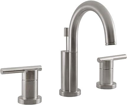 Design House 525733 Geneva Widespread Bathroom Faucet Satin Nickel Touch On Bathroom Sink Faucets Amazon Com