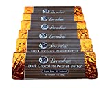Decadent Dark Chocolate Peanut Butter Bar (6 Pack) - LC Foods - Low Carb - All Natural - Gluten Free - No Sugar - Erythritol - Diabetic Friendly - 1.8 oz